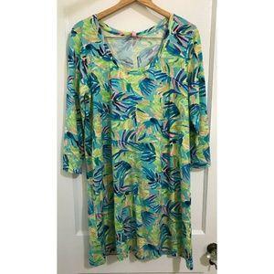 Lilly Pulitzer Womens Floral Dress Serenity Siz XL